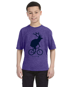 Youth Elk on a Bike T-Shirt