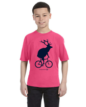 Load image into Gallery viewer, Youth Elk on a Bike T-Shirt