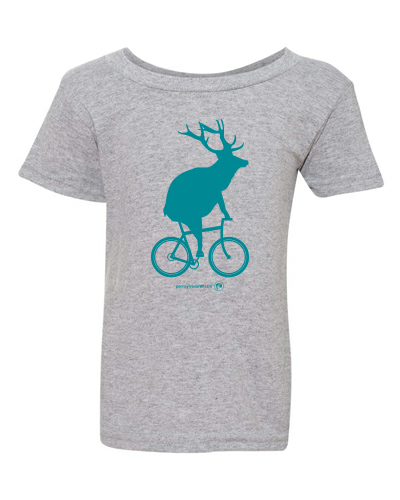 Toddler Elk on a Bike T-Shirt