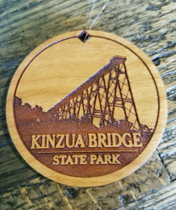 Engraved Wooden Skywalk Ornament