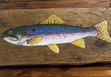 Load image into Gallery viewer, Reclaimed barn wood painting - Fish