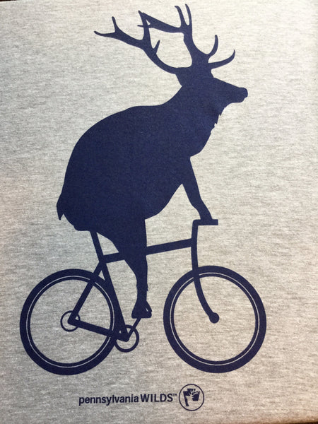 Elk on a bike