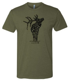 In Other Words, an Elk Adult T-shirt