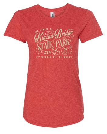 Ladies Vintage Kinzua Bridge Scoop Neck T-Shirt