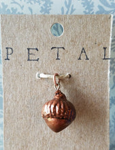 Load image into Gallery viewer, Black Oak Acorn Charm