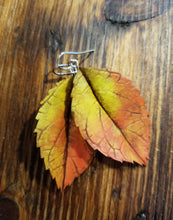 Load image into Gallery viewer, Fall Leaf Earrings