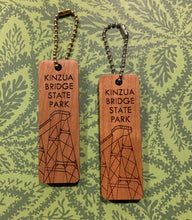 Load image into Gallery viewer, Kinzua Bridge State Park Wooden Keychains