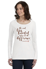 Load image into Gallery viewer, The Road Less Traveled Ladies Long Sleeve Shirt