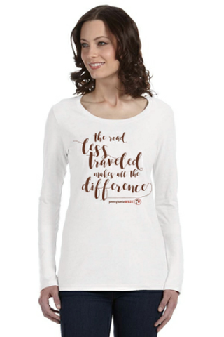 The Road Less Traveled Ladies Long Sleeve Shirt