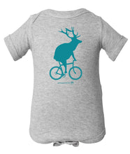 Load image into Gallery viewer, Elk on a Bike Onesie
