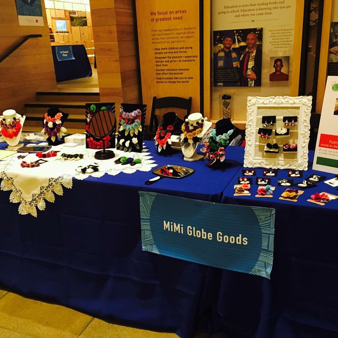MiMi Globe Goods Booth at the Gates Foundation Holiday Giving Marketplace
