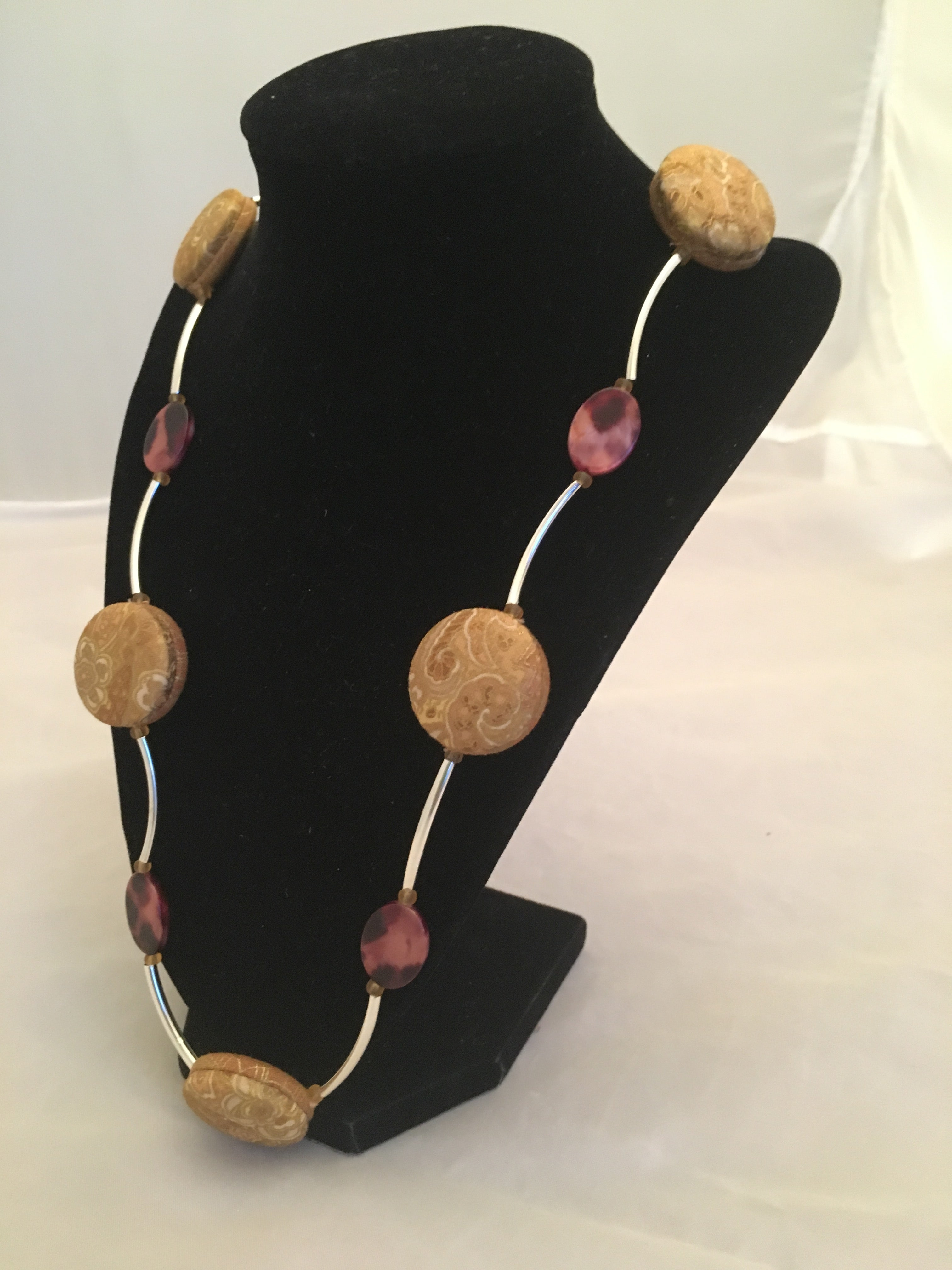Reversible Necklace (Long): Royal Sandy Gold