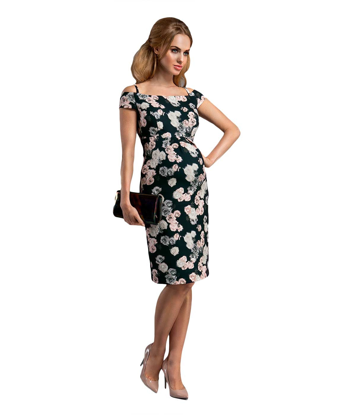 Maternity dresses smartmother uae mums fav online shop night flowers elegant dress in maternity dresses in maternity smartmother 1 ombrellifo Choice Image