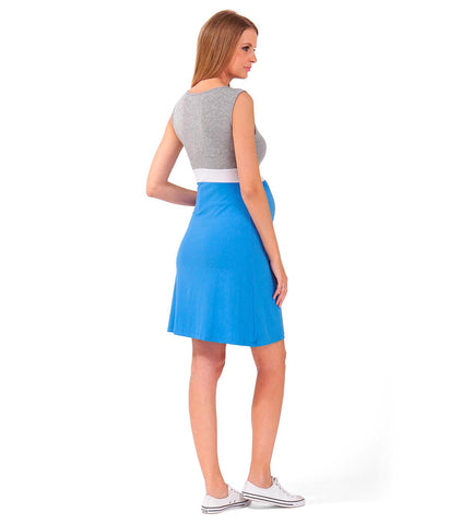 Cheeky Chic Everyday Blue Dress in Maternity - Dresses in Maternity - SmartMother.me - 2