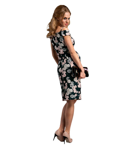 Night Flowers Elegant Dress in Maternity - Dresses in Maternity - SmartMother.me - 2