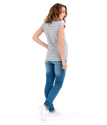 Ultra Comfy Modern Top - Light Stripes in Maternity - Tops in Maternity - SmartMother.me - 2