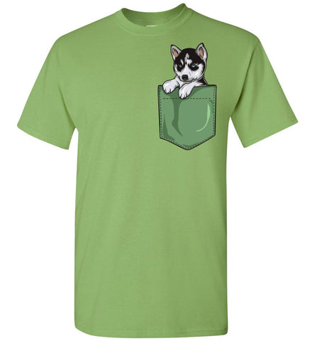 Husky Puppy Pocket Tee