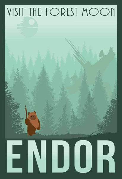Forest Moon of Endor Retro Travel Print - SouthofMemphis - 1