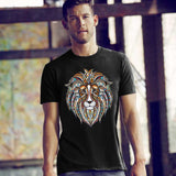 Colorful Mosaic Lion T-shirt - SouthofMemphis - 1