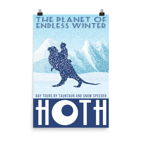 Hoth Retro Travel Poster Print