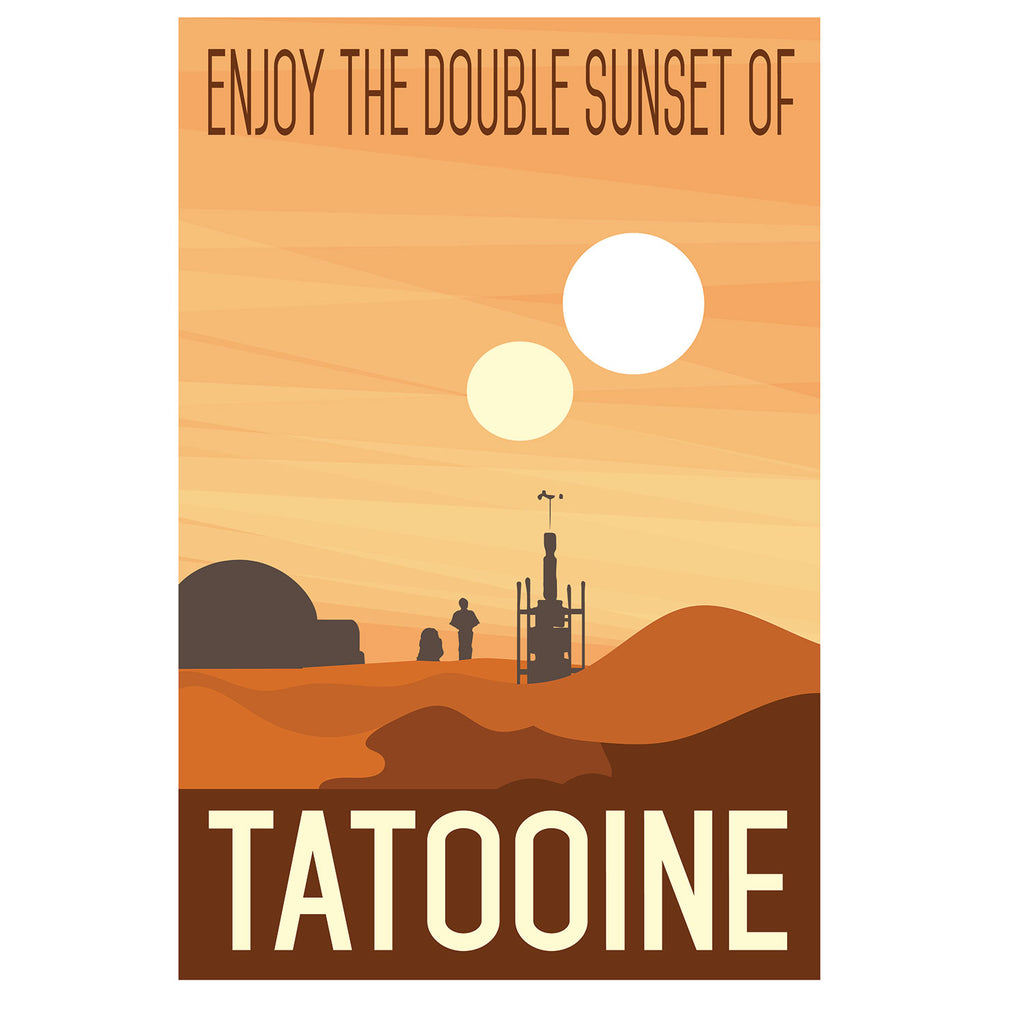 e43756edc Buy Star Wars Tatooine Travel Poster at SouthofMemphis for only $19.95