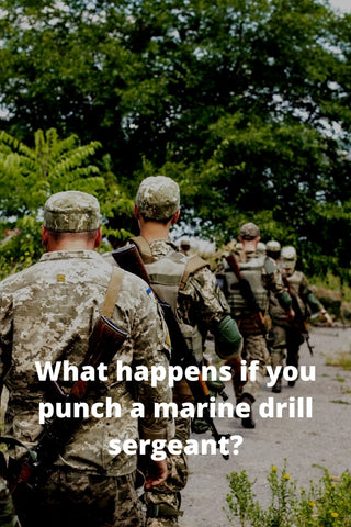 What happens if you punch a marine drill sergeant?