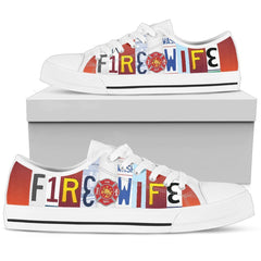 FIRE WIFE WOMEN'S LOW TOP MULTI COLOR CANVAS SHOES