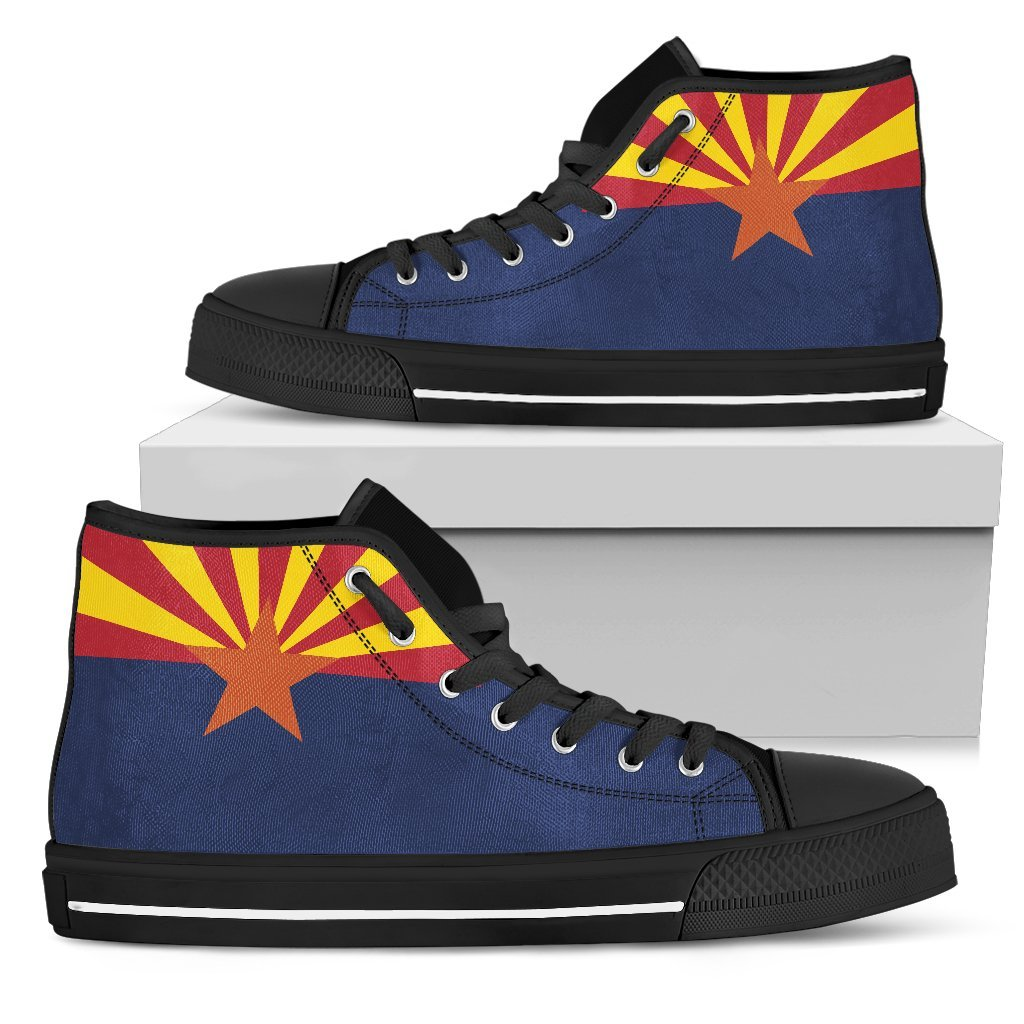 Arizona State Flag Men's High Top Shoes - Snappy Creations