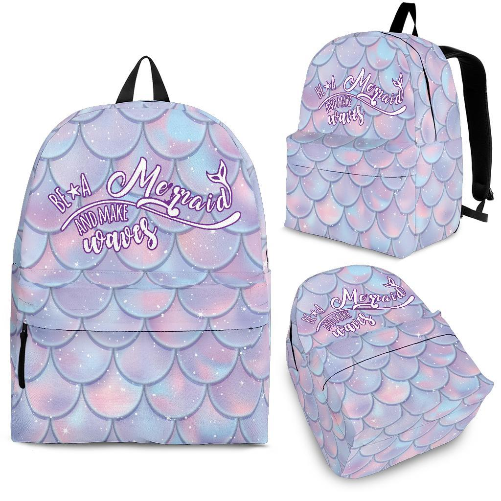 Be A Mermaid And Make Waves Backpack - Snappy Creations