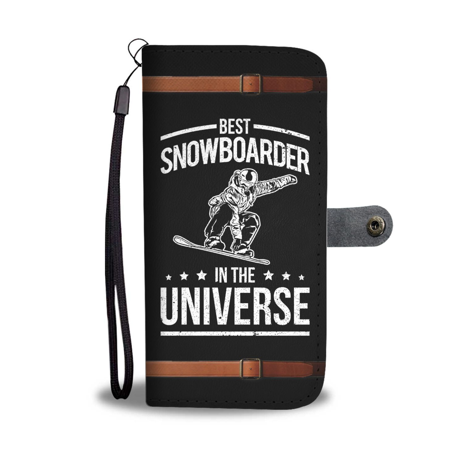 Best Snowboarder In The Universe Funny Snowboard Wallet Phone Case