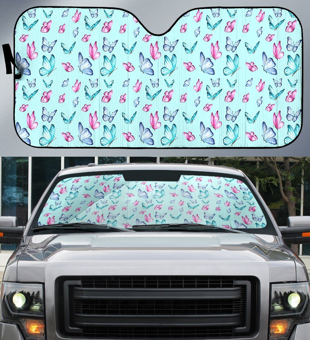 Butterfly Pattern Water Paint Print Auto Car Sun Shade - Snappy Creations