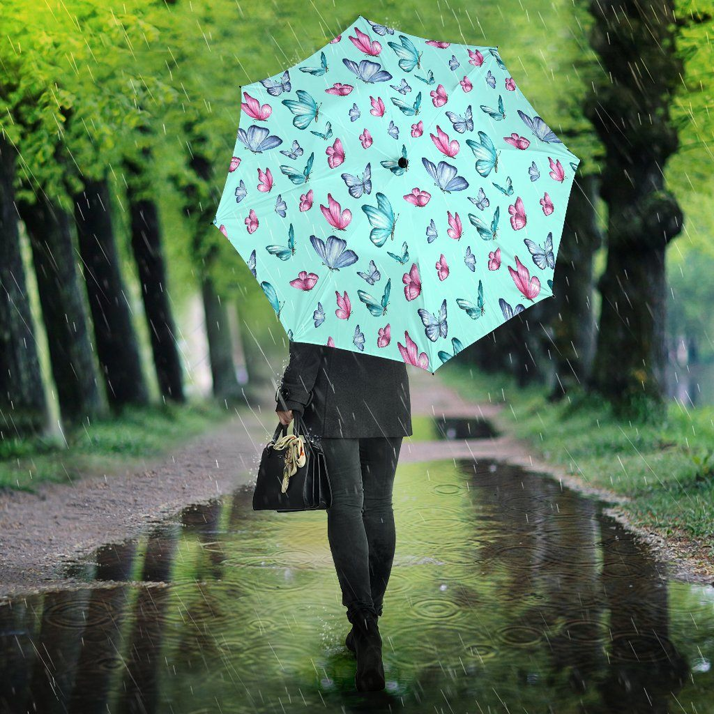 Butterfly Pattern Water Paint Print Umbrella - Snappy Creations