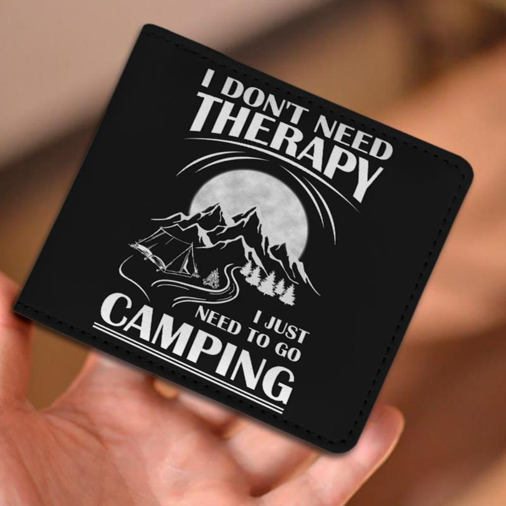 I Don't Need Therapy I Just Need To Go Camping - Men's Wallet - Snappy Creations