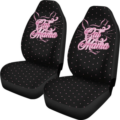 Cat Lovers - Cat Car Seat Covers - Cat Mama Black Universal Fit Car Seat Covers