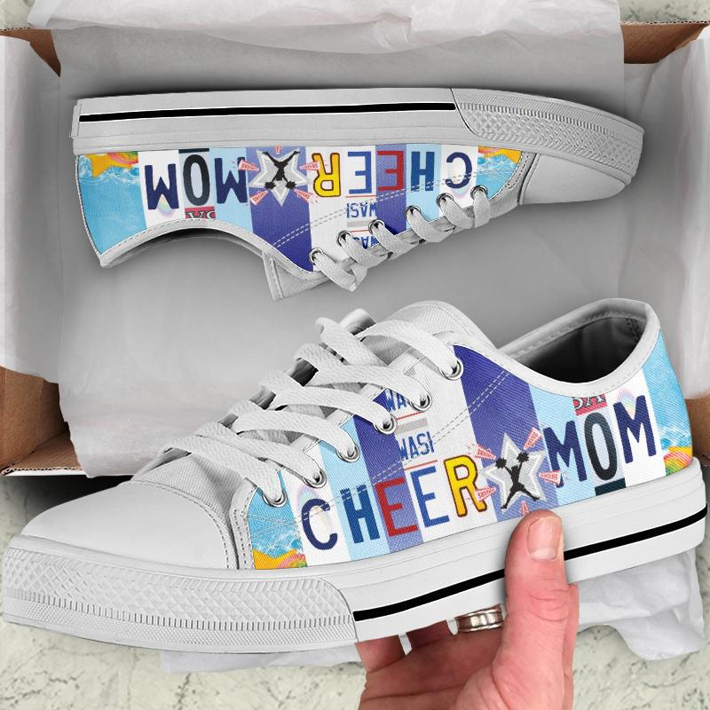 Cheer Mom Women's Low Top Canvas Shoes - Snappy Creations