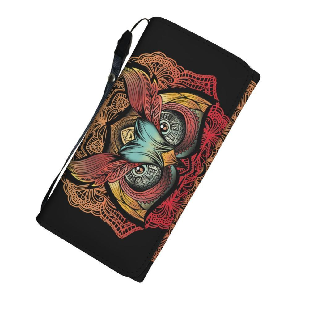 Colorful Owl Design Women's Wallet - Owl Wallet - Snappy Creations