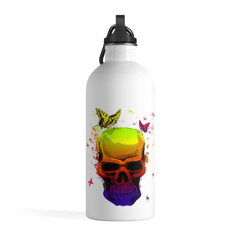 Colorful Skull Stainless Steel Water Bottle