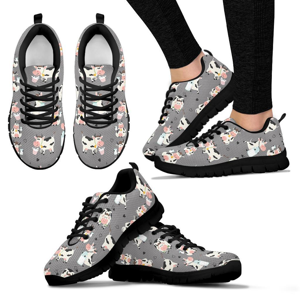 Cow Pattern And Milk Light Grey Sneakers