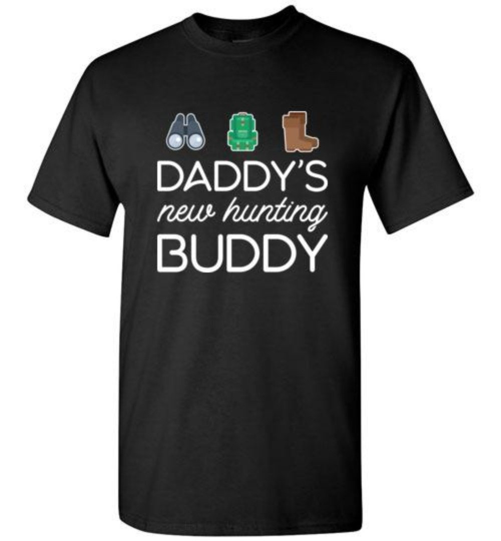 Daddy's New Hunting Buddy Hunting Youth Size T-Shirt