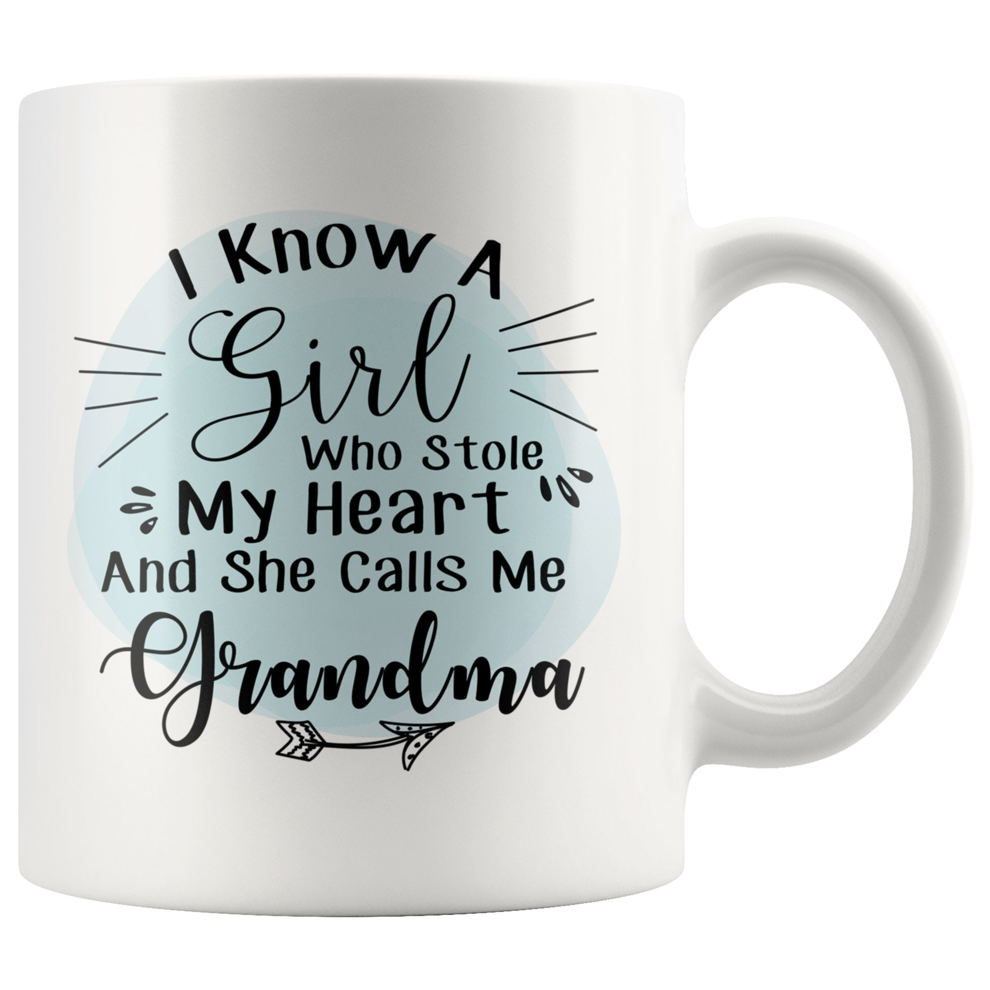 She Stole My Heart She Calls Me Grandma White Coffee Mug