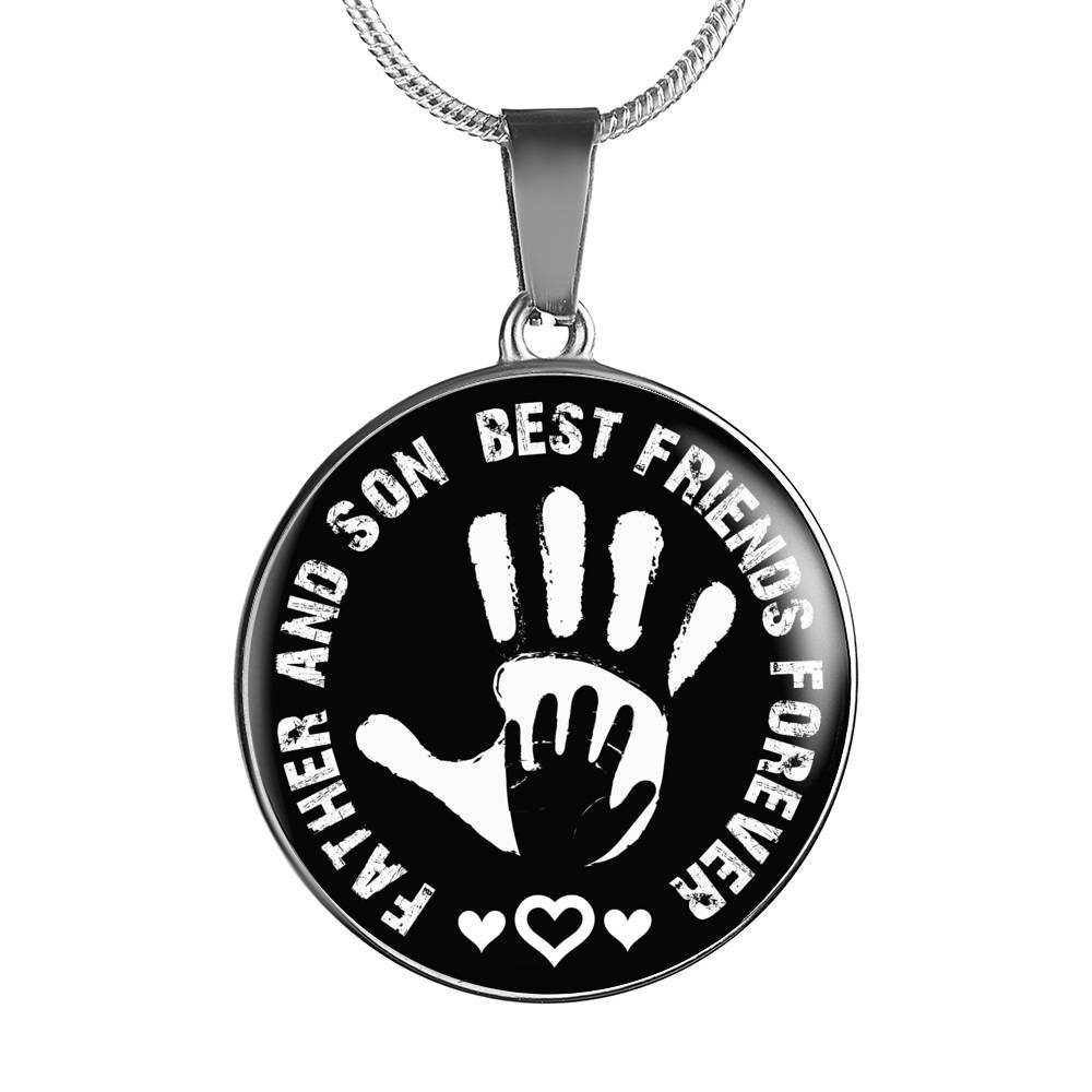 Father And Son Circle Pendant Necklace - Best Friends Forever