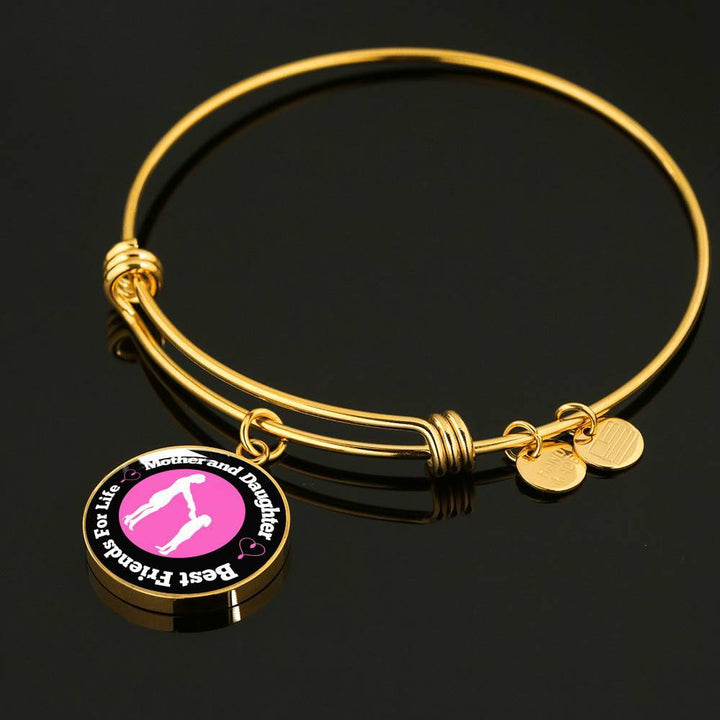 Mom And Daughter Necklace Or Bangle Bracelet - Best Friends For Life