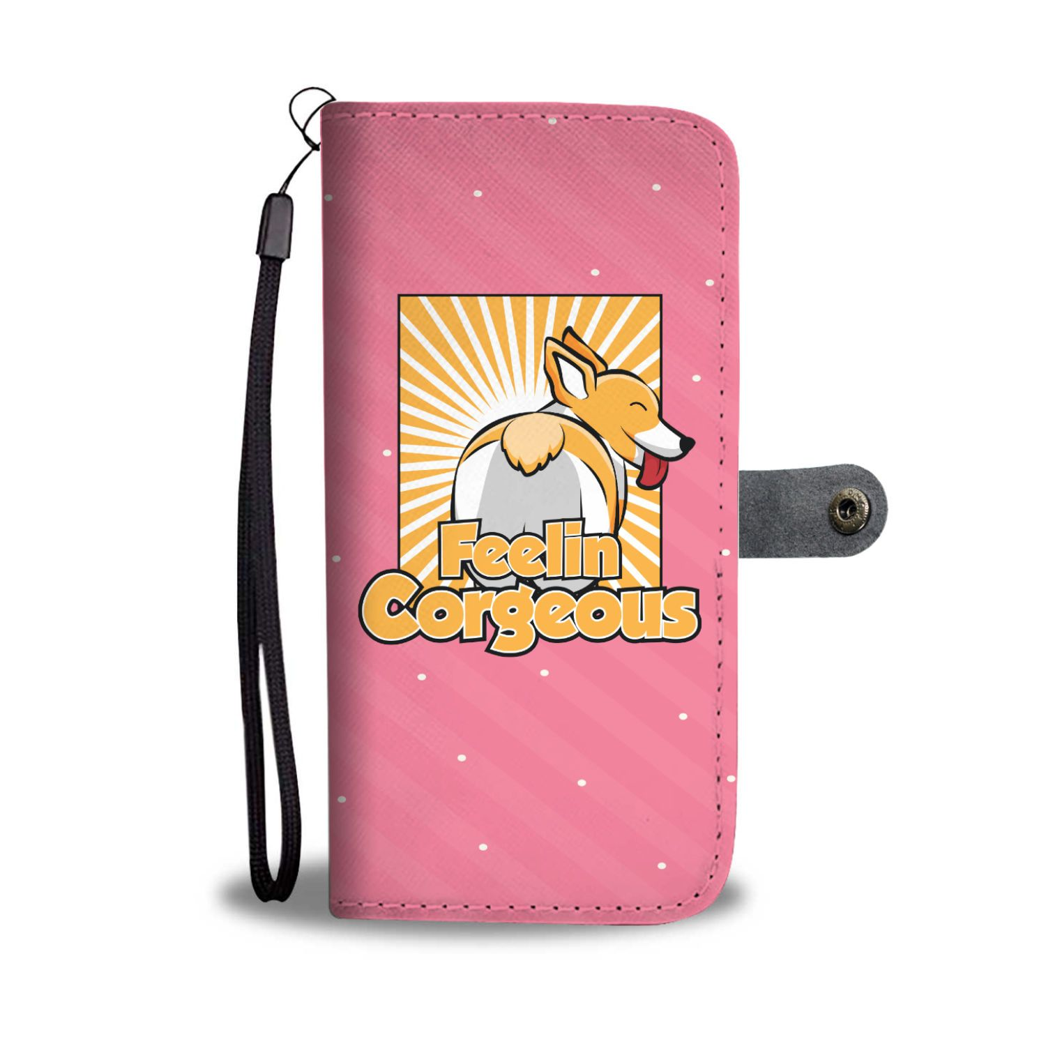 Feelin' Corgeous Corgi Wallet Phone Case