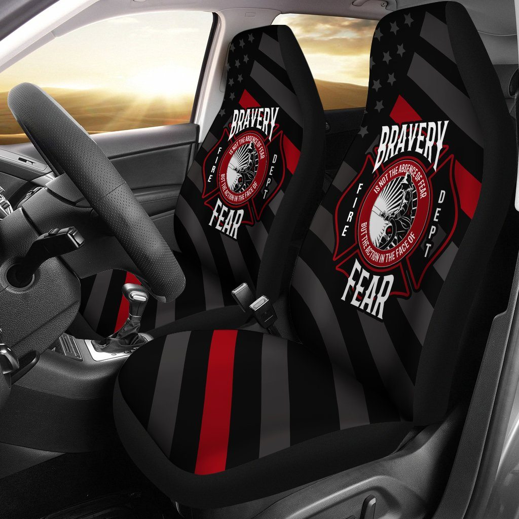 Fire Fighter - Bravery Not The Absence Of Fear Action In Face Of Fear Car Seat Covers