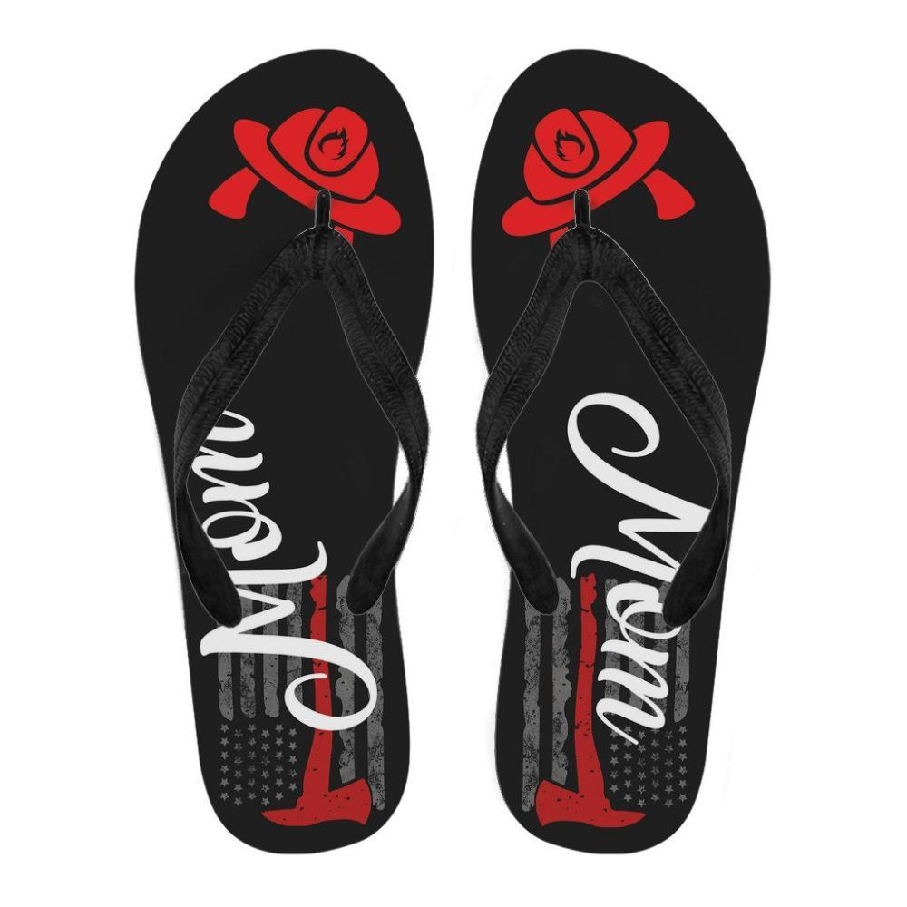 Firefighter Mom Flip Flops