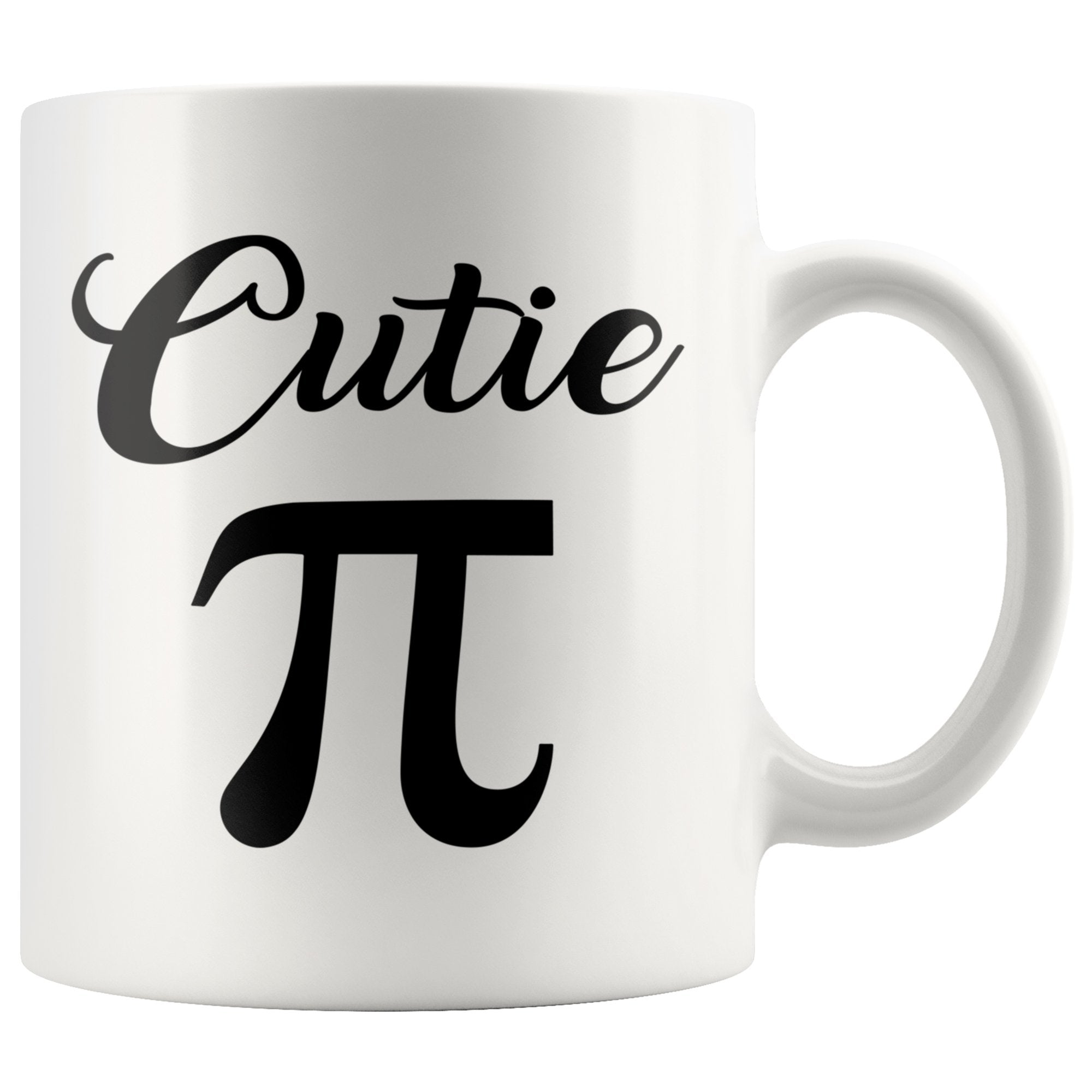 Cutie Pi Funny White Science Coffee Mug