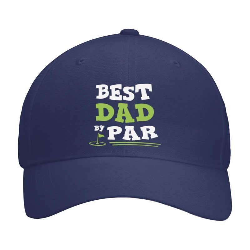 Best Dad By Par Funny Golf Cap - Snappy Creations