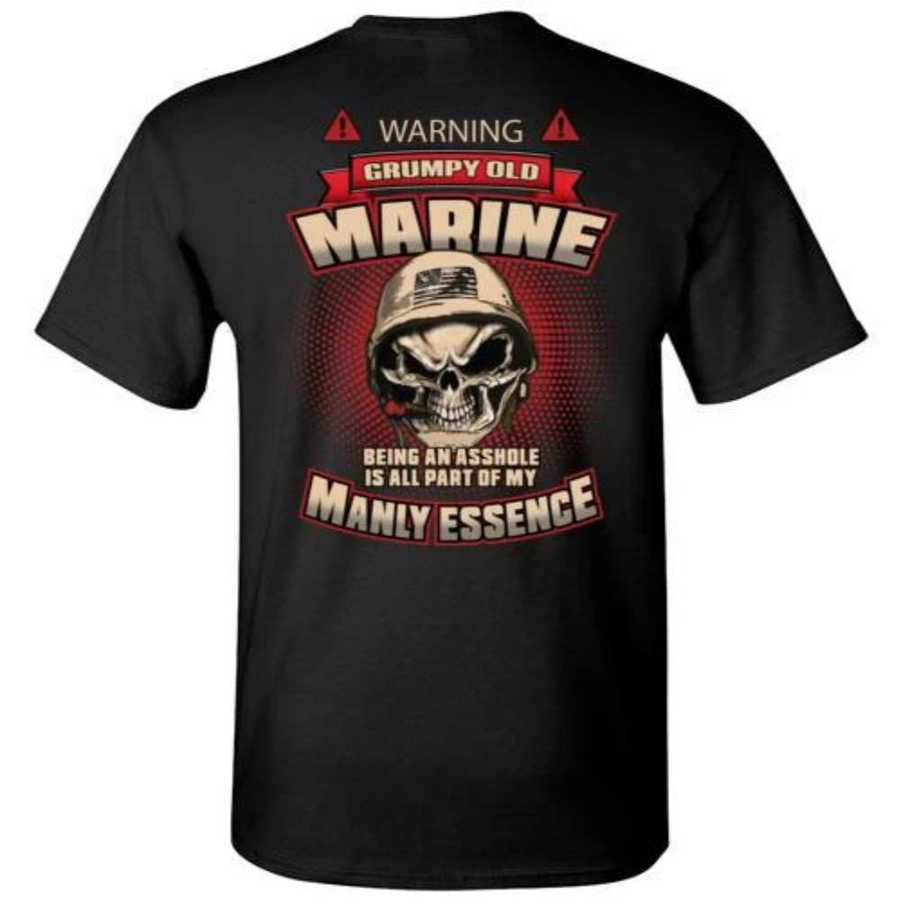 Grumpy Old Marine T-Shirt, Hoodie, Tank Top - Snappy Creations