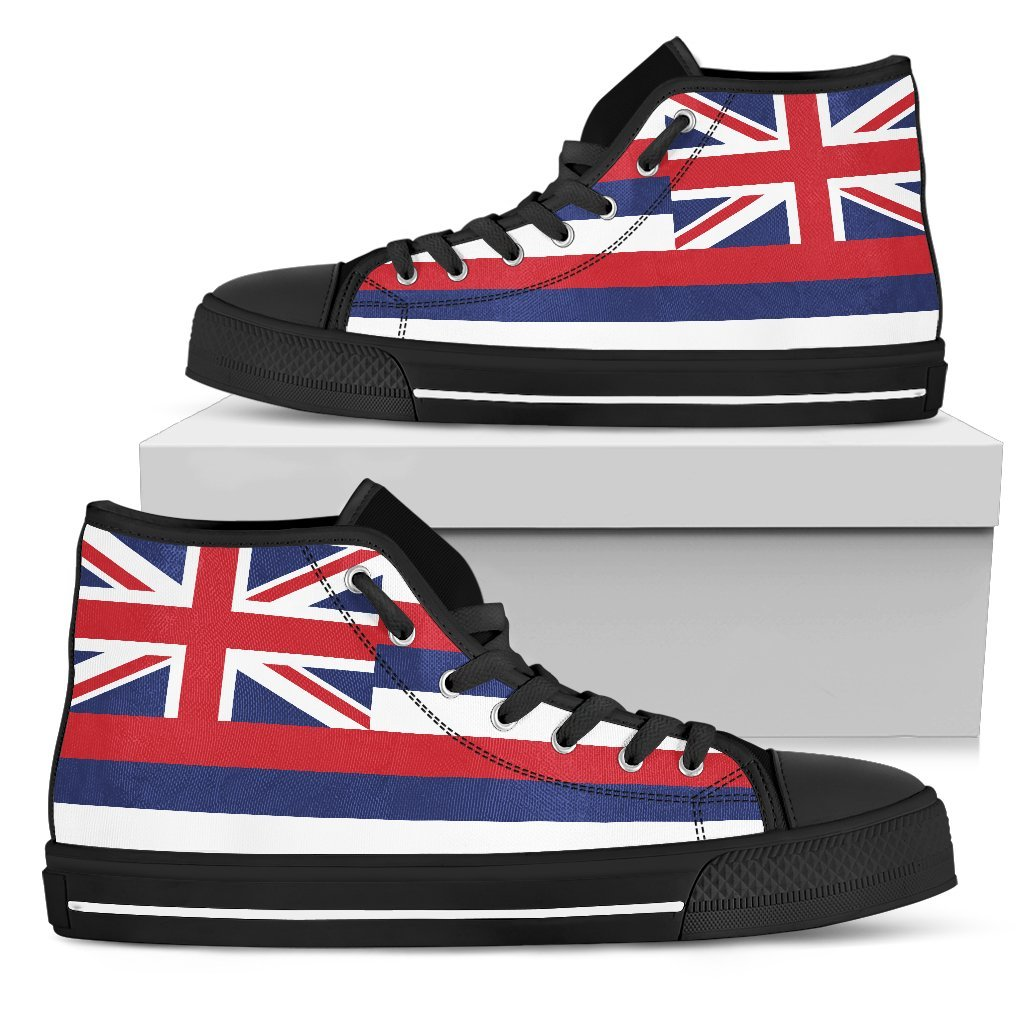 Hawaii State Flag Men's High Top Shoes - Snappy Creations