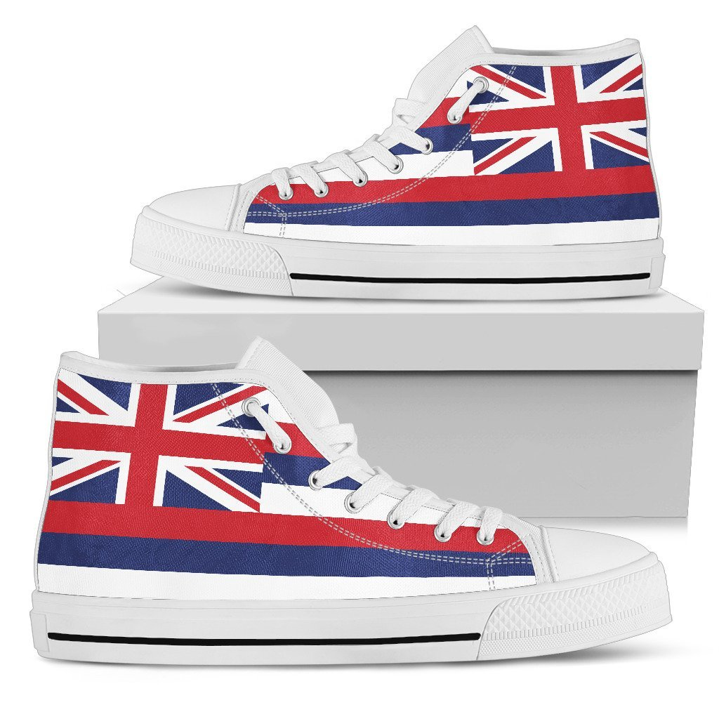 Hawaii State Flag Women's High Top Shoes - Snappy Creations